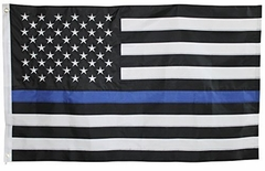 Thin Blue Line Police Officer Support Flag (3 x 5 Foot)