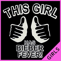 This Girl Has Bieber Fever Girl's T-Shirt