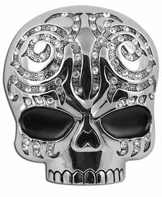 Tribal Bling Skull Belt Buckle With FREE Leather Belt