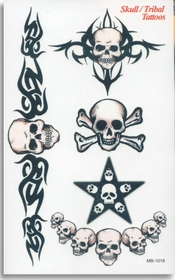 Tribal Skulls 1 Temp. Tattoo