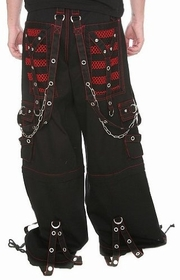 "Tripp NYC ""Armageddon"" Bondage Pants (Black/Red)"
