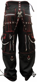 "Tripp NYC ""Brass Knuckles Skull"" Bondage Pants (Black/Red)"