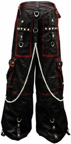 "Tripp NYC ""Chaotic"" Bondage Pants (Black/Red)"