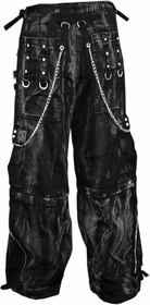 Tripp NYC Mechanic Wash Chain Pants With Zip Off Legs