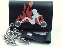 Trucker Babe Genuine Leather Chain Wallet