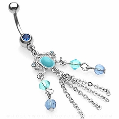 Turquoise Gypsy Navel Jewelry