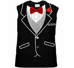 Tuxedo TShirts - Mens All Occasion Formal Sleeveless Tuxedo Shirt