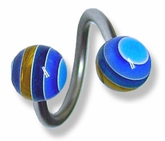 Twisted Striped Barbell