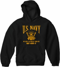 U.S. Navy Protect Your Ass Not Kiss It Adult Hoodie