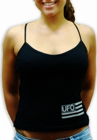 UFO Girly Tank Top (Black)