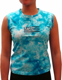 UFO Girly Tie Dye Tank Tops (Blue)