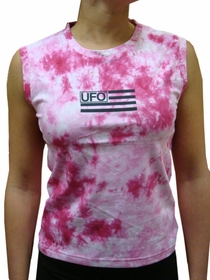 UFO Girly Tie Dye Tank Tops (Pink)