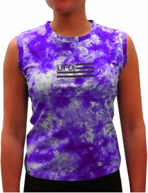 UFO Girly Tie Dye Tank Tops (Purple)