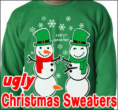 Ugly Christmas Sweaters and Clothing from Bewild.com