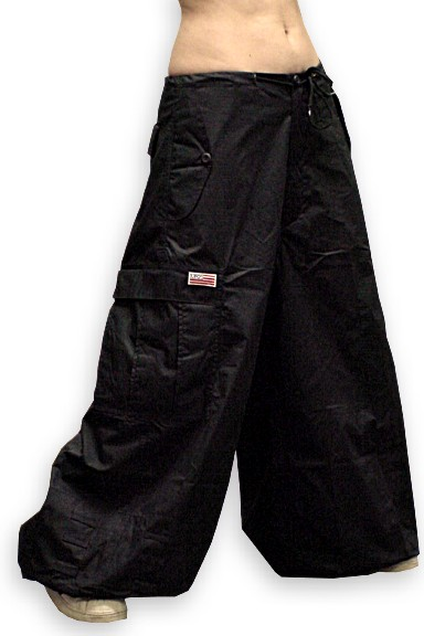 "Unisex 40 "" Wide Leg UFO Pants (Black)"