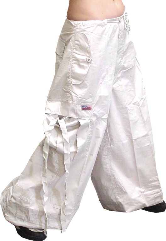 "Unisex 40 "" Wide Leg UFO Pants (Blacklight Responsive White)"