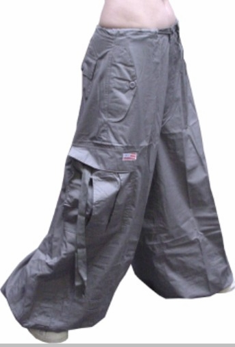 "Unisex 40 "" Wide Leg UFO Pants (Dark Grey)"
