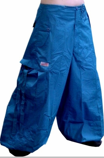 "Unisex 40 "" Wide Leg UFO Pants (Royal Blue)"