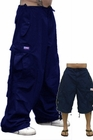 Unisex Basic UFO Pants w/ Zip Off Legs to Shorts (Navy)