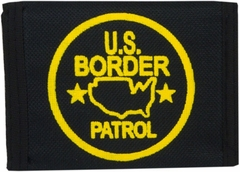 US Border Patrol Canvas Wallet (Black)