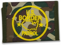 US Border Patrol Canvas Wallet (Woodland Camo)