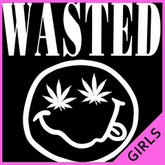 Wasted Pot Leaf Smiley Face Girl's T-Shirt