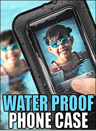 Waterproof Case for iPhone, Android, and ALL Smart Phones<!-- Click to Enlarge-->