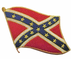 Navy confederate flag patch
