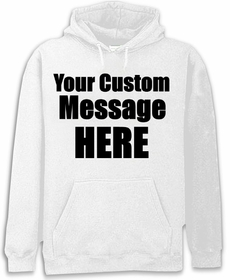 White Custom Hooded Sweatshirt