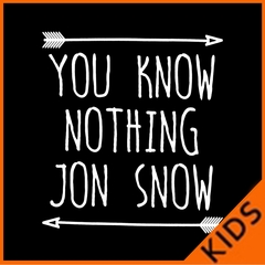 (White Print) You Know Nothing Jon Snow Kids T-shirt