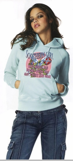 Who Needs Big Boobs... Southern Girl Hoodie<!-- Click to Enlarge-->
