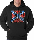 Wild Bitch Confederate Rebel Flag Adult Hoodie