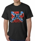 Wild Bitch Confederate Rebel Flag Mens T-shirt