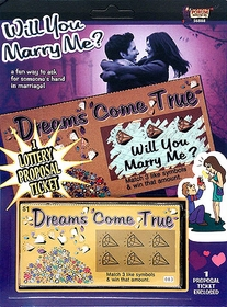 Will You Marry Me Scratch Off Ticket