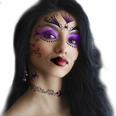 Temporary Face Tattoo - Witch