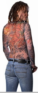 Women's Tiger Full Body Tattoo Shirt<!-- Click to Enlarge-->