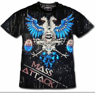 """Xzavier Da Grind """"Mass Attack Fighting Falcon"""" T-Shirt<!-- Click to Enlarge-->"""