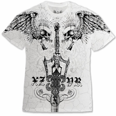 "Xzavier Da Grind ""Screaming Skulls"" T-Shirt (White)"