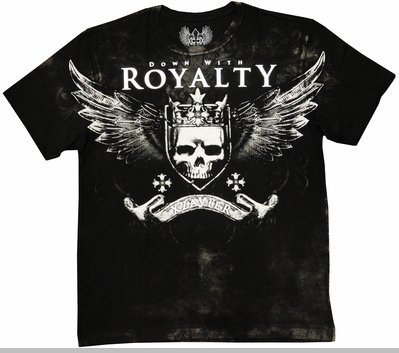 "Xzavier ""Down With Royalty"" Men's T-Shirt (Black)<!-- Click to Enlarge-->"