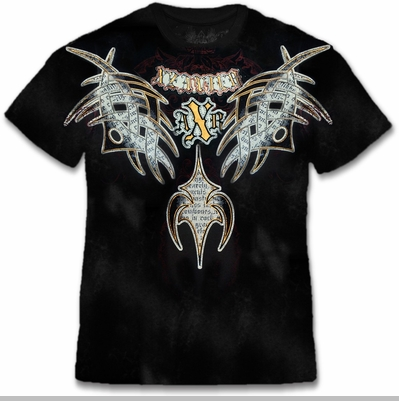 Xzavier Guilded Tribal Couture Rhinestone T-Shirt<!-- Click to Enlarge-->