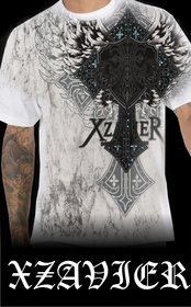 "Xzavier ""Nobel Winged Cross"" T-Shirt (White)"
