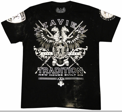 """Xzavier """"The Story"""" Men's T-Shirt (Black)<!-- Click to Enlarge-->"""