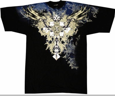 "Xzavier ""Winged Celtic"" T-Shirt (Black)<!-- Click to Enlarge-->"
