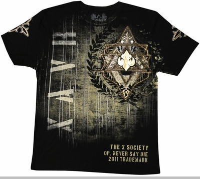 "Xzavier ""X Society"" Men's T-Shirt (Black)<!-- Click to Enlarge-->"