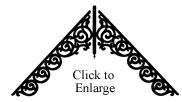 Extended Old Lace Gable Decoration