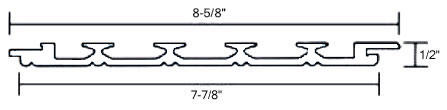 Detailed drawing of PVC Beadboard Plank