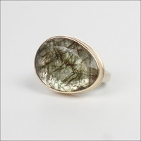 Asymmetrical Green Tourmalated Quartz