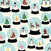 Snowglobes Wrap, 4 sheets