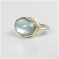 Small Faceted Oval Aquamarine
