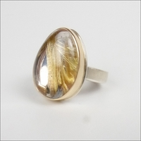 Smooth Rutilated Quartz
